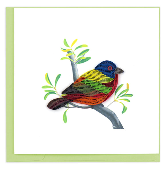 Quilling Card - Painted Bunting