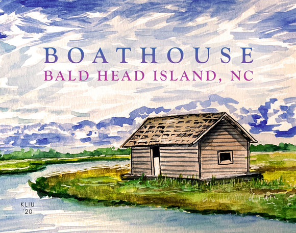 BHI Boathouse Print