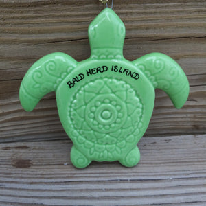 Stamped Ceramic Sea Turtle Ornament