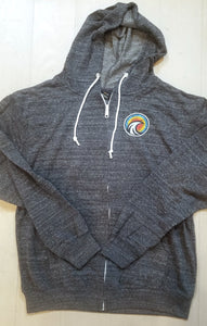 Circle Wave Zip Up Hoodie