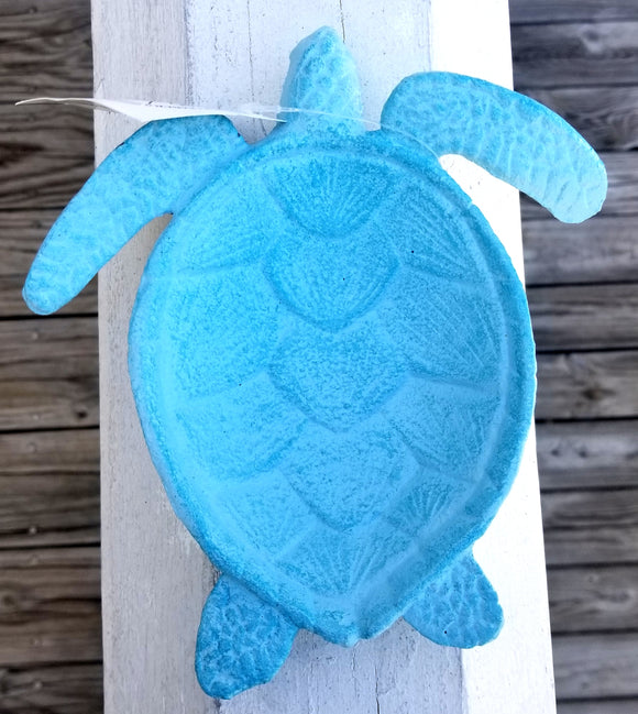 Blue Sea Turtle Cast Iron Soap Dish