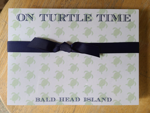 BHI On Turtle Time Notepad