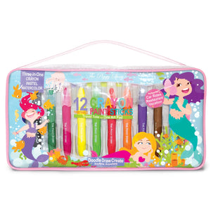 Magical Mermaids  Crayon Paint Stick Travel Tote