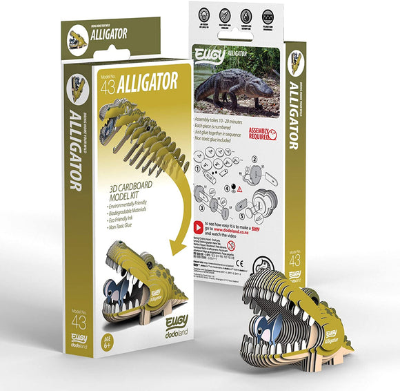 Eugy 3-D Alligator Model Kit