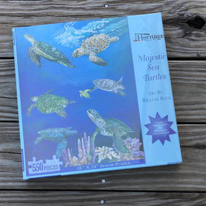 """Majestic Sea Turtles"" by William Bock Puzzle"