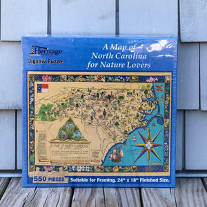 Heritage Puzzle A Map of North Carolina for Nature Lovers Puzzle