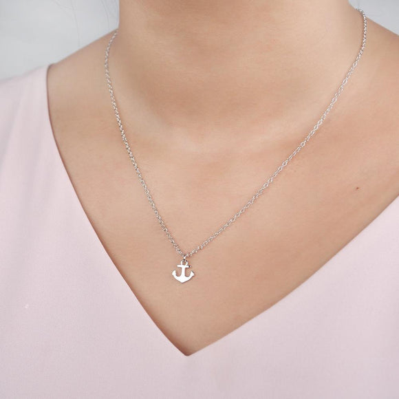 Dear Ava Anchor Graduation Necklace
