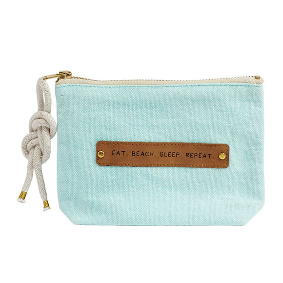 Mud Pie Eat Beach Patch Pouch