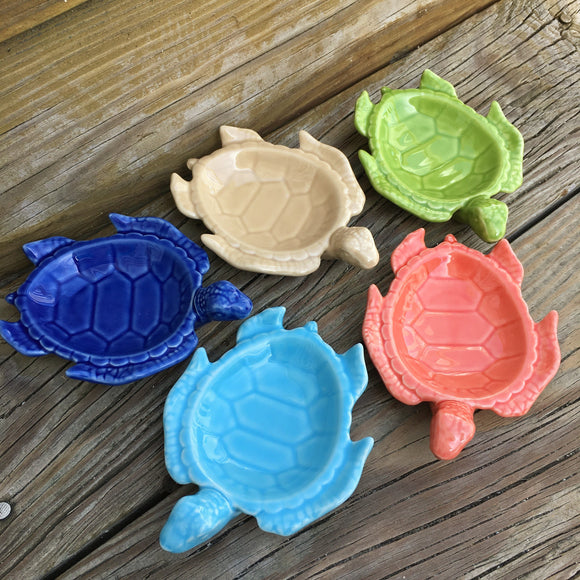 Footed Sea Turtle Dish