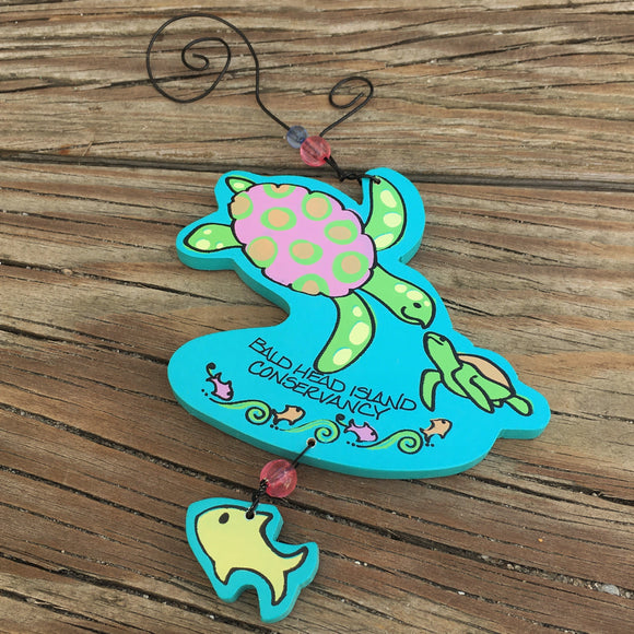 Wooden Turtle Ornament