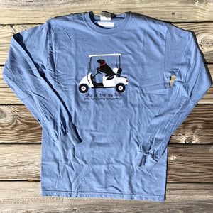 Lab 'n Golf Cart Long Sleeve T-Shirt