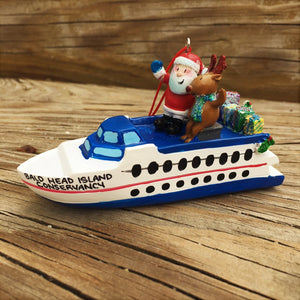 Santa & Rudolph Ferry Ornament