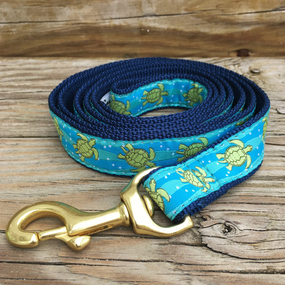Turtle Ribbon Dog Lead