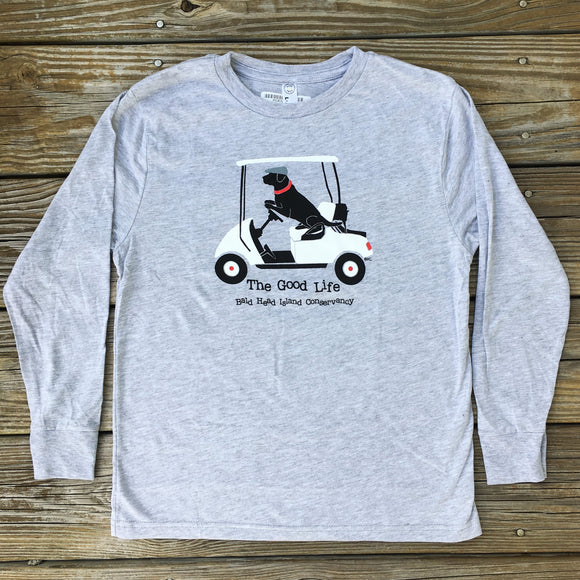 Kid's Lab 'n Golf Cart Long Sleeve T-Shirt