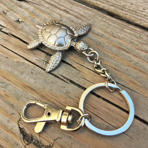 Silver Turtle Key Ring