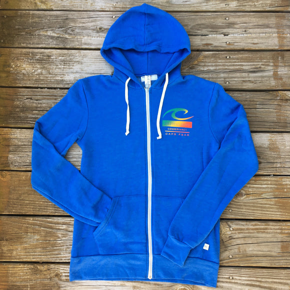 Wave Zip Up Hoodie