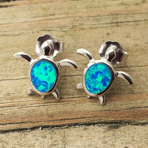 Opal Turtle Earrings