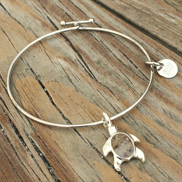 BHI Sand Sea Turtle Bangle Bracelet