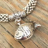 Silver Dangle Fish Bracelet