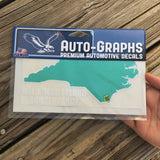 NC Outline BHIC Auto Decal