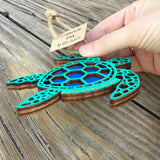Handmade Wooden Ornament - Sea Turtle