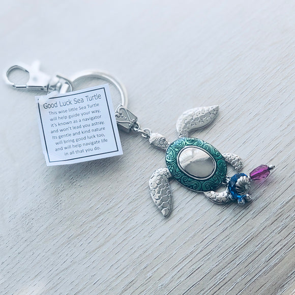Ganz Good Luck Sea Turtle Key Ring