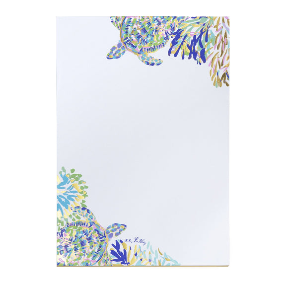Lilly Pulitzer Shell of a Party Gilded Notepad