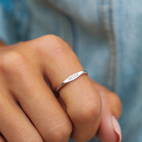 Pura Vida Salty Vibes Stack Ring
