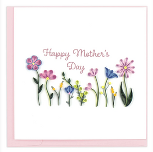 Mother's Day Wildflowers Quilling Card