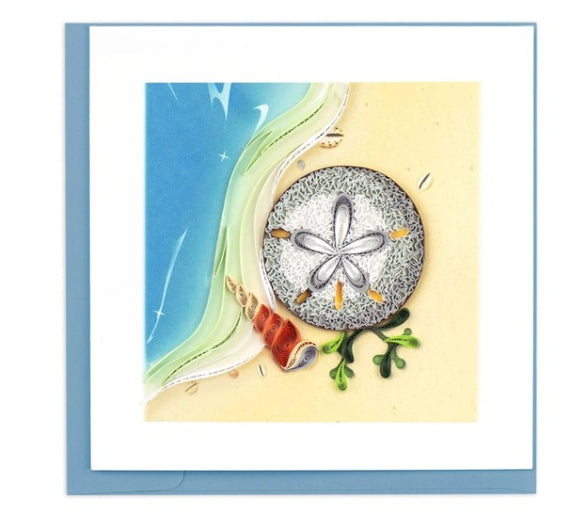Quilled Sand Dollar Greeting Card