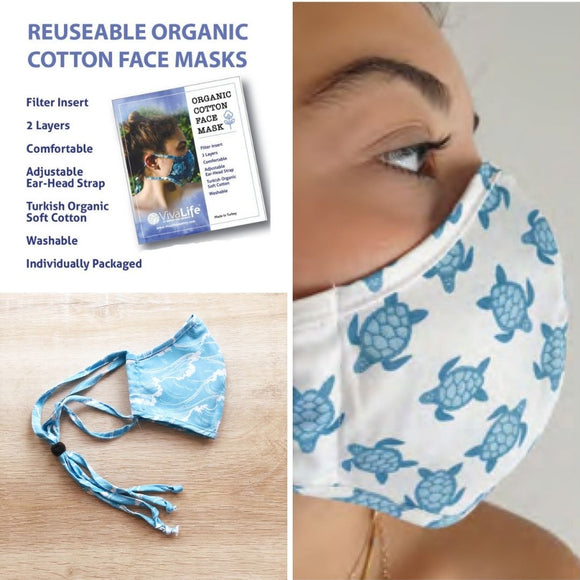 Viva Life Adjustable Cotton Face Masks