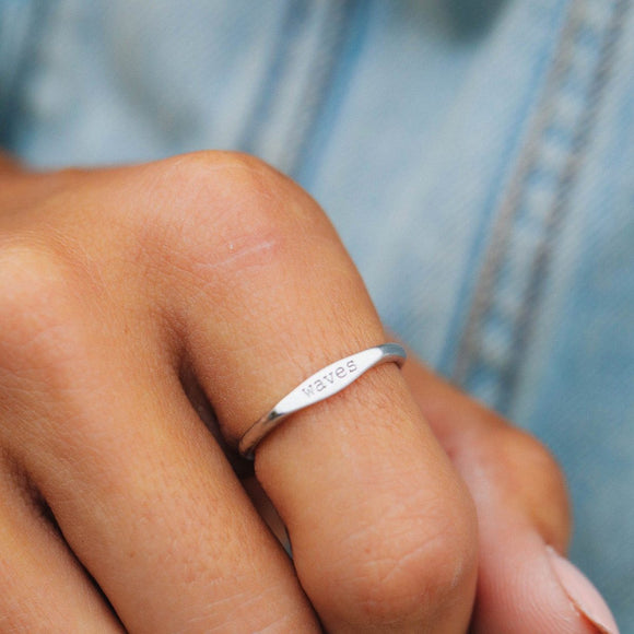 Pura Vida Waves Stack Ring