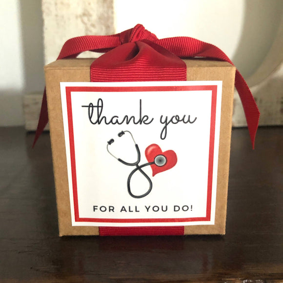B. Toffee - Nurse/Doctor Healthcare Appreciation Custom 4oz Gift Boxes