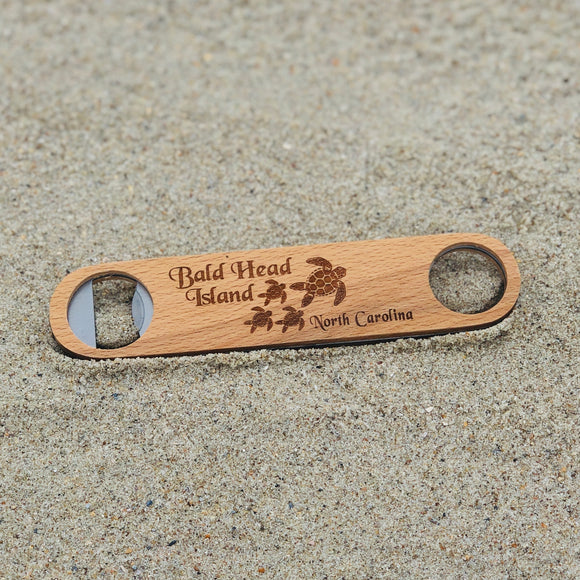 BHI Bicast Double Sided Wood Bottle Opener
