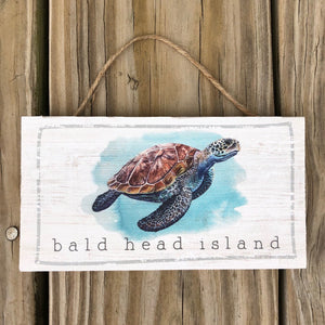 Sea Turtle Hanging Sign