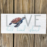 Love Sea Turtle Pallet Sign