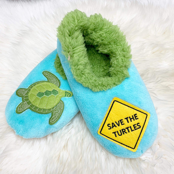 Save the Sea Turtles Snoozies Slippers