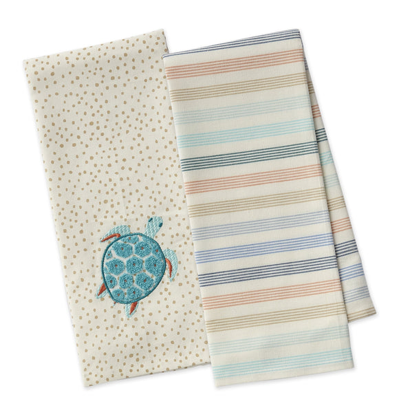 Design Imports Sea Turtle Dishtowel Set of 2