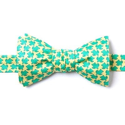 Sea Turtle Silk Bow Tie