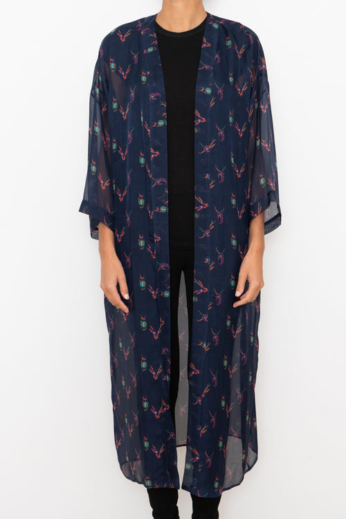 100 % Silk Robe - Pattern #7