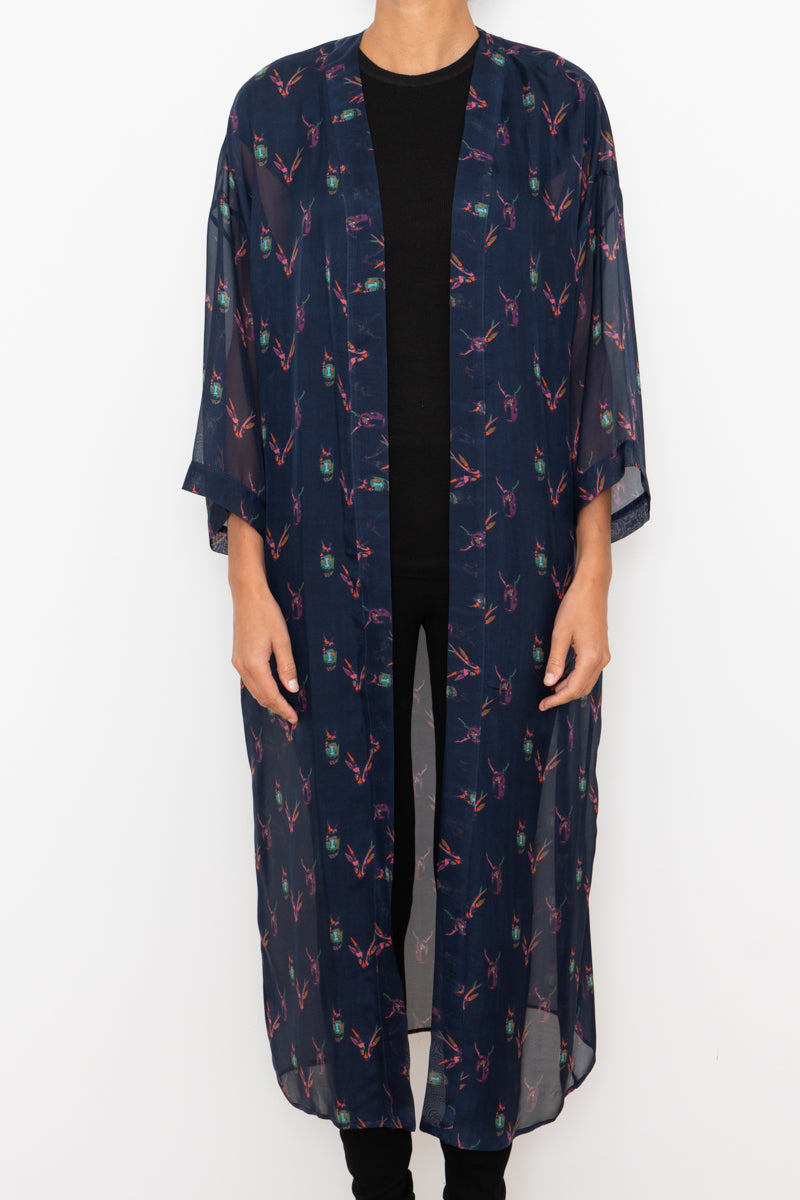 100% Silk Robe - Pattern #7
