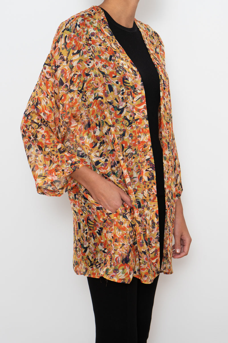 100% Silk Robe - Pattern #14