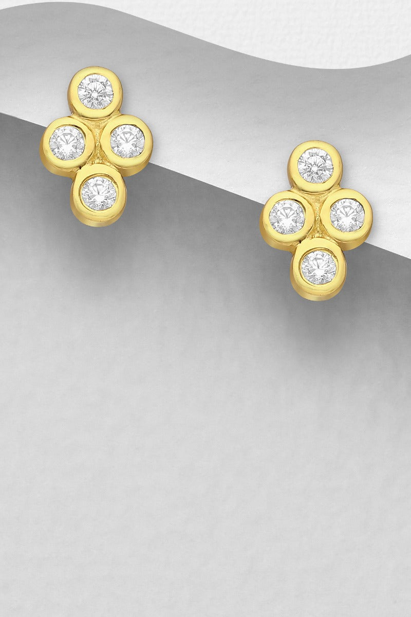 Luxe Sterling Silver 18K Gold Plated Earrings