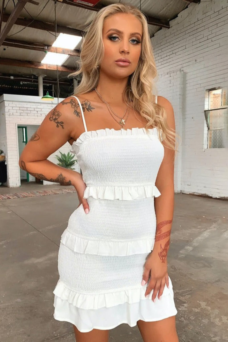 Tarryn Dress - White