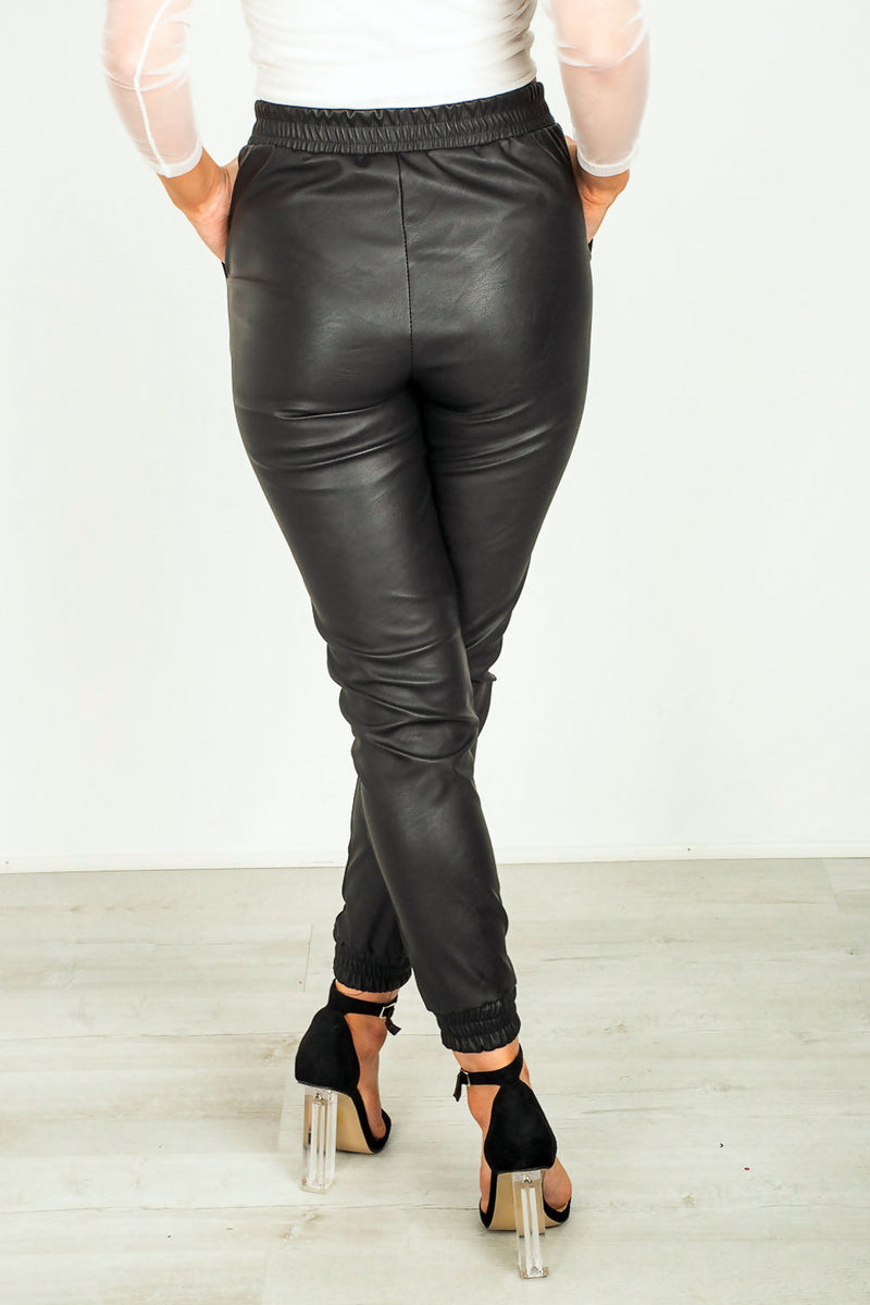Leyla Faux Leather Jogger