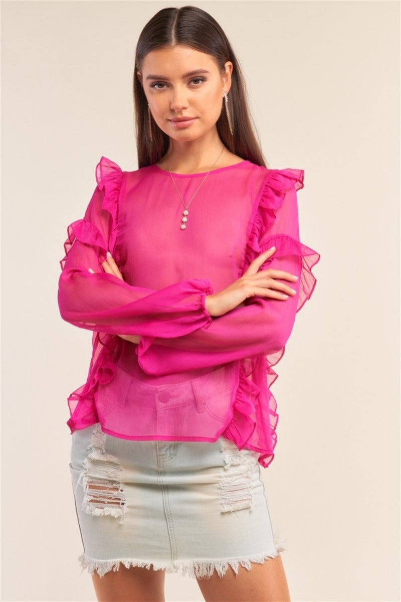 Fresh In Fuchsia Shirt