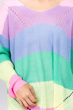 Load image into Gallery viewer, Oversized Rainbow Jumper