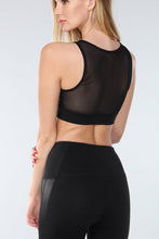 Load image into Gallery viewer, L.A Society Malibu Moto Mesh Sports Bra