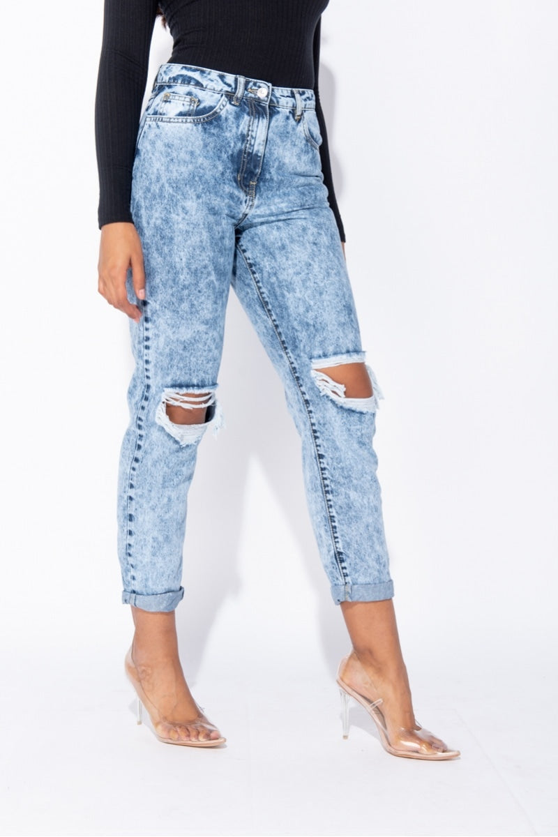 Bring It On Distressed Jeans