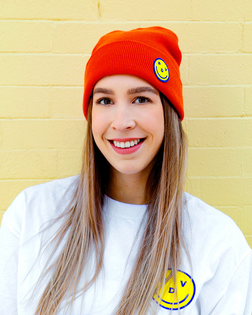 Tuque sourire en orange